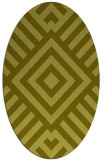 rug #1225003 | oval light-green popular rug