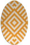 rug #1225027 | oval white stripes rug