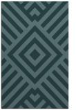 rug #1225103 |  blue-green stripes rug