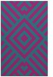 rug #1225111 |  blue-green stripes rug