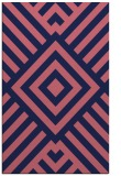 rug #1225123 |  blue-violet stripes rug