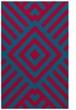 rug #1225151 |  blue-green stripes rug