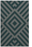 rug #1225163 |  blue-green geometry rug