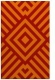 rug #1225295 |  orange stripes rug