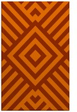 rug #1225307 |  red-orange graphic rug