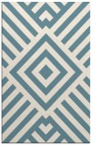 rug #1225343 |  blue-green geometry rug