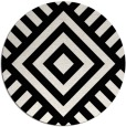 rug #1225403 | round black graphic rug