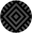 rug #1225407 | round black geometry rug
