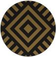 rug #1225419 | round black stripes rug