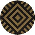 rug #1225427 | round mid-brown stripes rug