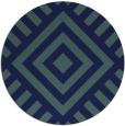rug #1225439 | round blue-green rug