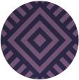 rug #1225495 | round purple graphic rug