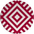 rug #1225515 | round red stripes rug