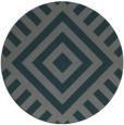 rug #1225531 | round green graphic rug