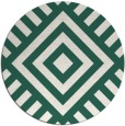 rug #1225535 | round blue-green stripes rug