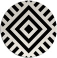 rug #1225547 | round black graphic rug