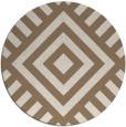 rug #1225559 | round beige geometry rug