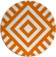 rug #1225615 | round orange stripes rug