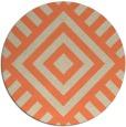 rug #1225619 | round orange popular rug