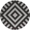 rug #1225623 | round orange stripes rug