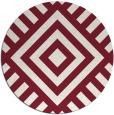 rug #1225631   round pink graphic rug