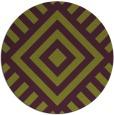 rug #1225647 | round purple graphic rug