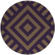 rug #1225651 | round mid-brown stripes rug
