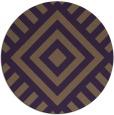 rug #1225651 | round purple stripes rug