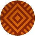 rug #1225675 | round red-orange stripes rug
