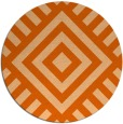 rug #1225679 | round red-orange stripes rug