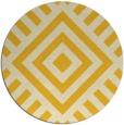 rug #1225719 | round yellow popular rug
