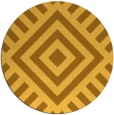 rug #1225731 | round light-orange stripes rug