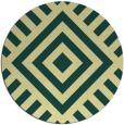 rug #1225735   round yellow stripes rug
