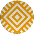 rug #1225755 | round light-orange geometry rug