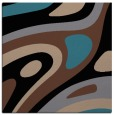 rug #1227531 | square brown graphic rug