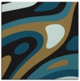 rug #1227543 | square mid-brown abstract rug