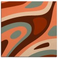 rug #1227739 | square red-orange abstract rug