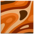 rug #1227795 | square red-orange abstract rug