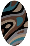 rug #1227899 | oval brown retro rug