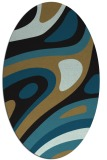 rug #1227911 | oval brown graphic rug