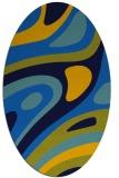 rug #1227915 | oval blue retro rug