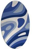 rug #1227931 | oval blue abstract rug