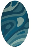 rug #1227935 | oval blue-green abstract rug