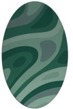rug #1227939   oval blue-green abstract rug