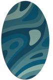 rug #1227952 | oval retro rug