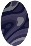 rug #1227967 | oval blue-violet retro rug