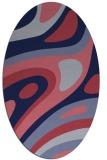 rug #1227975 | oval pink retro rug