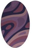 rug #1227979 | oval purple abstract rug