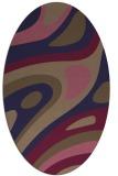 rug #1227987 | oval blue-violet retro rug