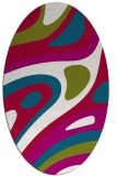 rug #1227999 | oval red graphic rug